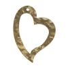 Gf 14kt Pendant Open Heart Hammered 20x30mm